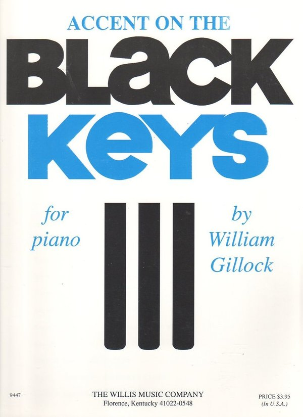 Accent on the Black Keys for Piano